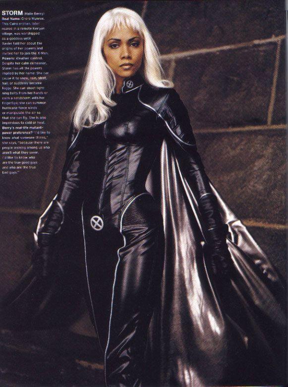 Marvel Universum Damen X-Men Storm Schwarz Catsuit Overall Halloween Kostüm