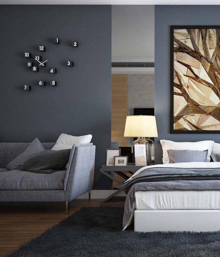 Grey bedroom Carpet bedroom ideas, wall color gray, big