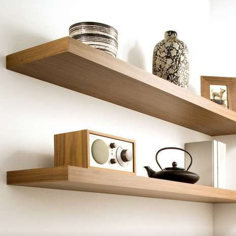 Crafted With Light Oak Effect Wood This Floating Shelf Can Hold Up Extraordinary Light Oak Floating Shelves