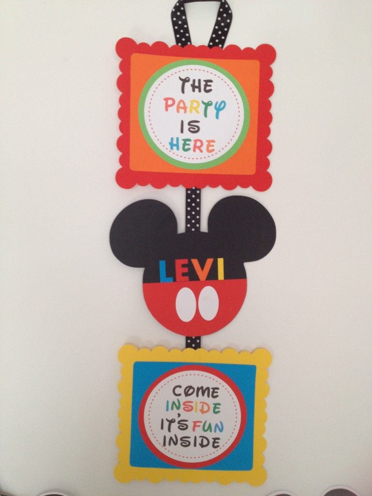 photo regarding Come Inside It's Fun Inside Free Printable titled How towards generate a Mickey Mouse Impressed Occasion Doorway Signal with