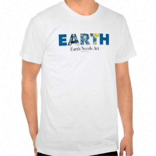 0e3a66909f9 Earth Needs Art Tshirt (Men s jersey)  MensT-shirts