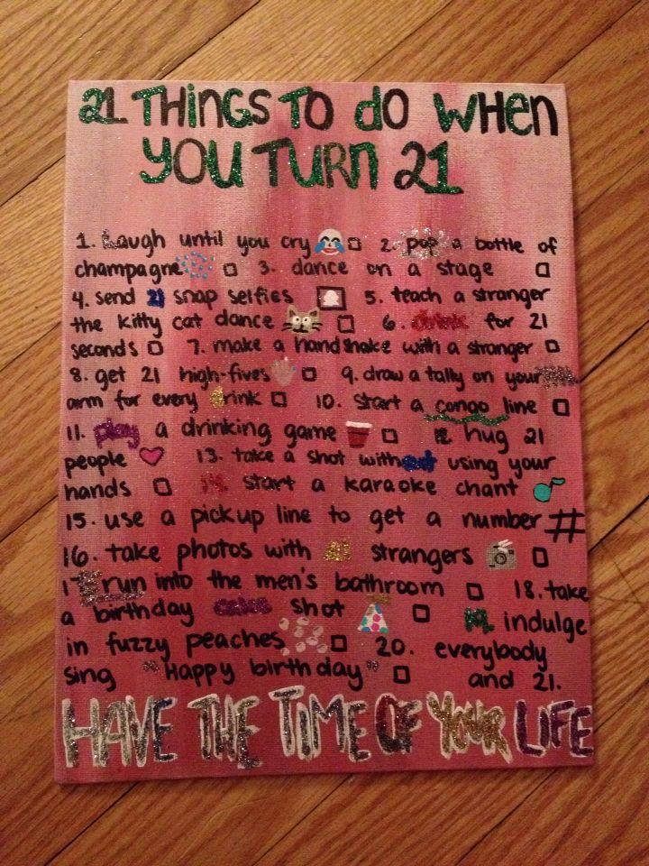 21st birthday checklist 21st Birthday Pinterest – Things to Write in a 21st Birthday Card