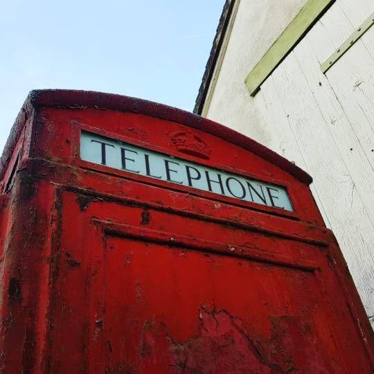 Cabine téléphonique anglaise en fonte modèle K6 1938 dans son jus !