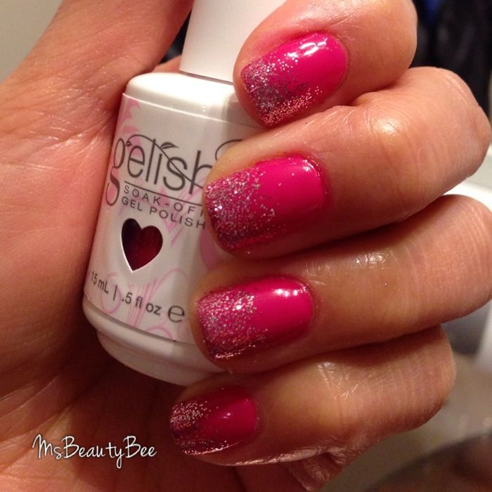 Gelish Less Talk Gel Nail Polish. Dark hot pink nails. Martha ...