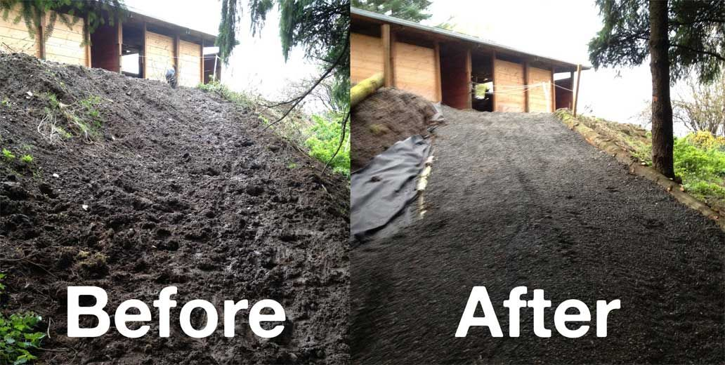 Before And After Lighthoof Installation Demonstrates Just How - Before and after achorse stable