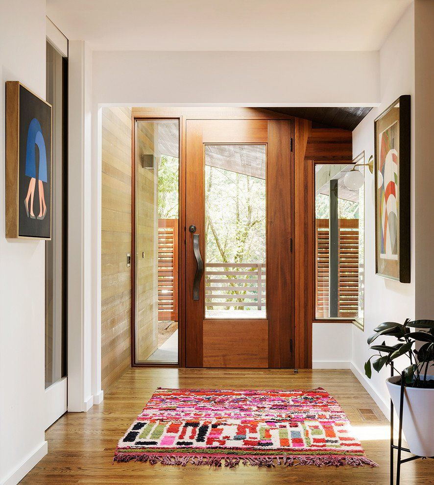 17 Captivating Mid Century Modern Entrance Designs That Simply Invite You Inside Mid Century House Modern Entrance Entrance Design