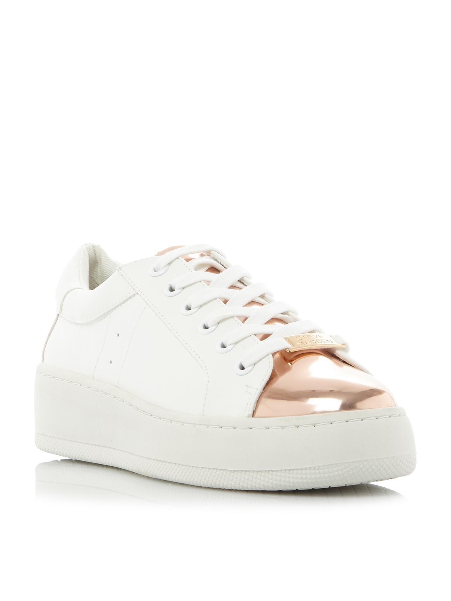 Buy your Steve Madden Bertie-m Metallic Flatform Trainers online now at  House of Fraser
