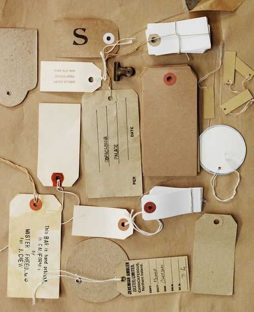 An assortment of tags