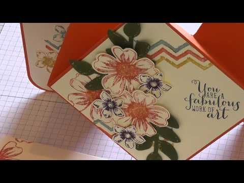 card making tutorial comes in 2 parts diamond fold card card