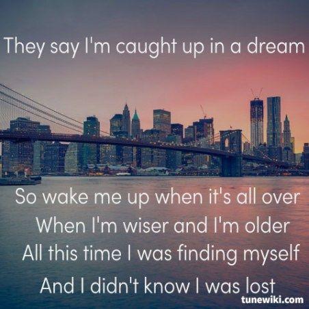 Avicii Wake Me Up Avicii Tunewiki Lyricart Music Quotes Song Quotes Favorite Lyrics