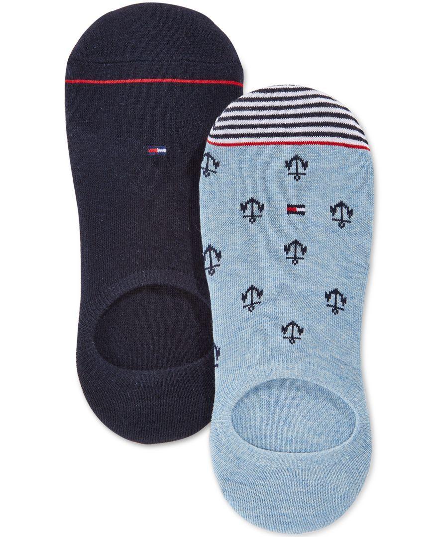 4c6c23dc Tommy Hilfiger Men's No-Show Anchor Socks, 2 Pack | mens fashion in ...