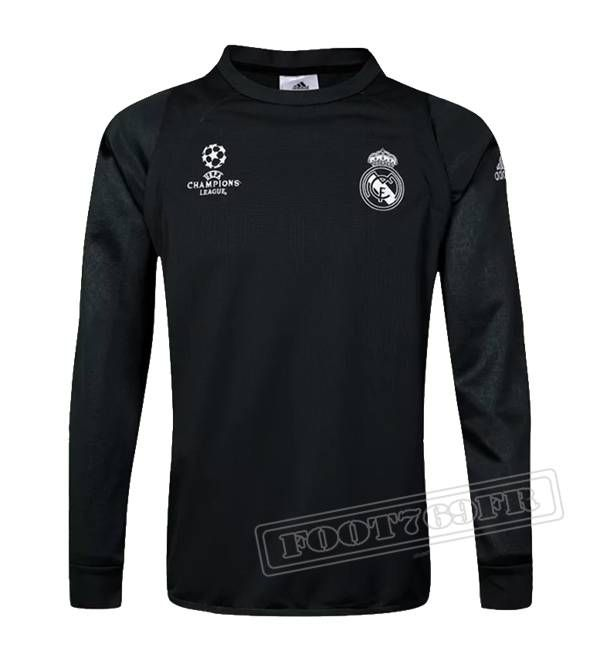 Dernier Sweatshirt Training Real Madrid Ligue Des Champions 2016-2017  France Thai Edition Velours Noir 73a5aa5491ed4