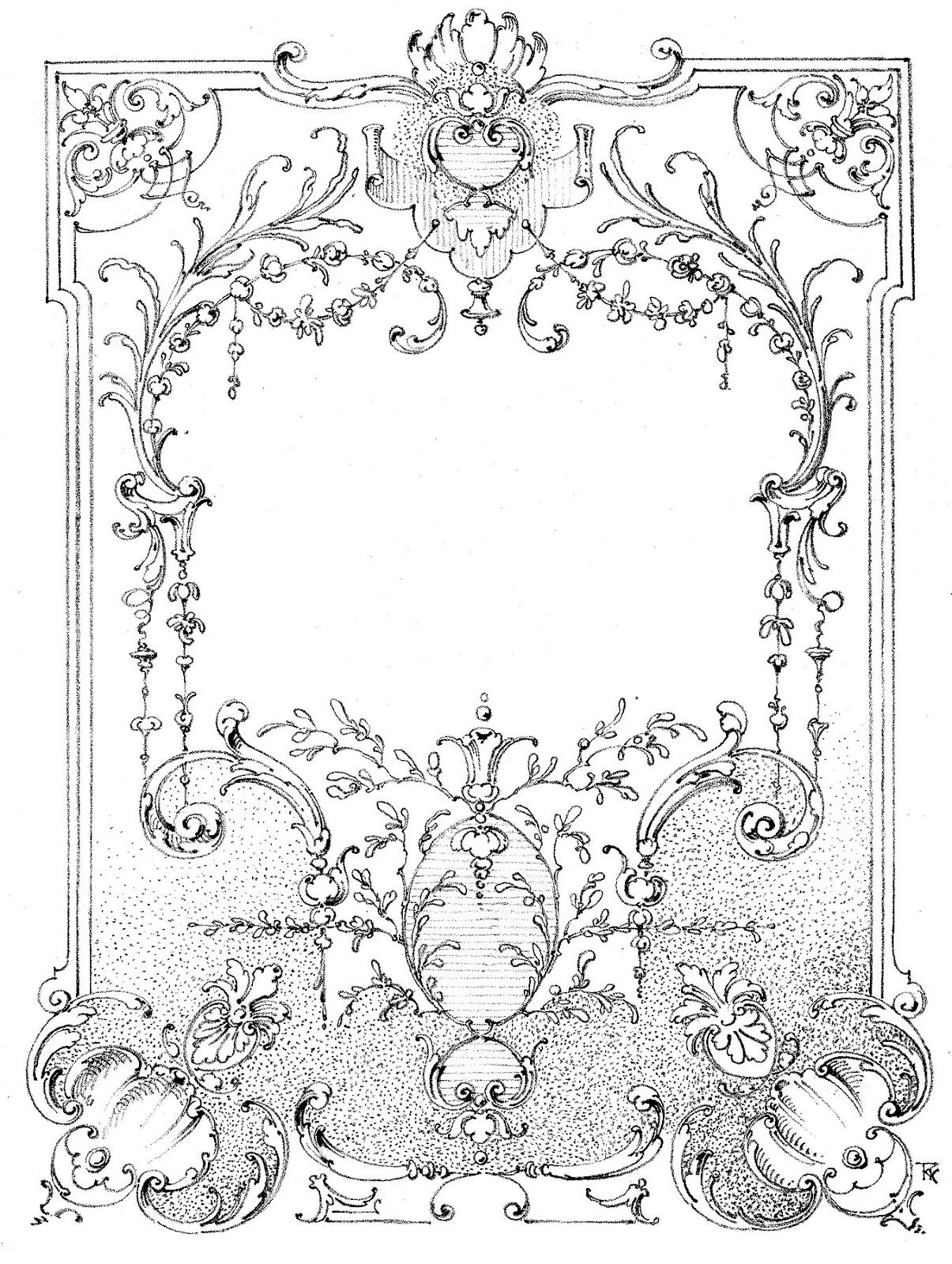 Vintage Illustrations - Gorgeous Ornate Label - Frame | Pinterest ...