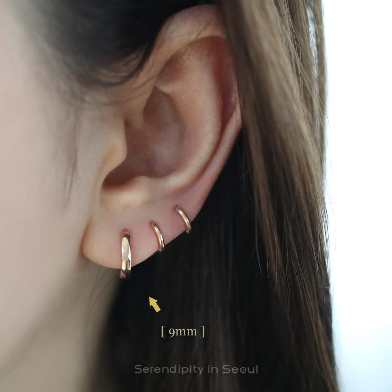 14k Gold Bold Huggie Hoop Earrings In 2018 Earrings Pinterest