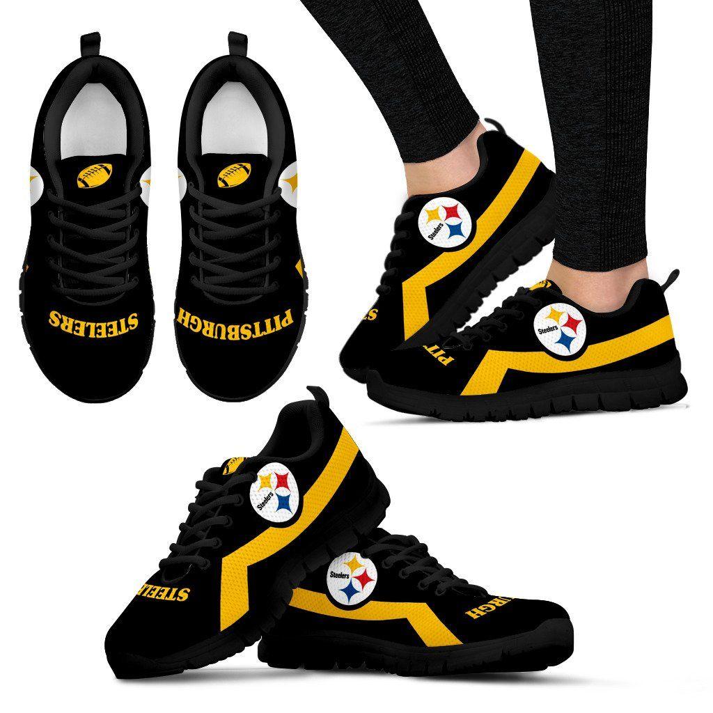Pittsburgh Steelers Line Logo Sneakers Pittsburgh