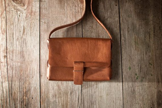 Beautiful handmade leather bag, no stitches only $49.95 on etsy #handmade #leather #bag #purse