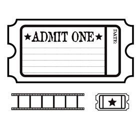 Image Result For Cinema Colouring Pages Printable Tickets Ticket Template Free Printables Admit One Ticket