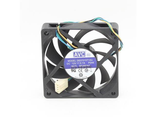 Avc 7015 7cm De07015t12u Dc 12v 0 7a 4wire Pwm Computer Cpu Cooler