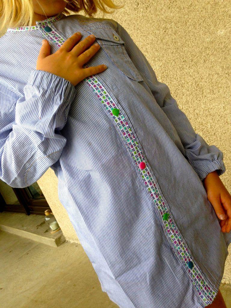 La blouse d 39 colier partir d 39 une chemise blouse - Taux d humidite dans une chambre de bebe ...