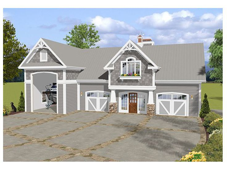 Rv Carriage House 007g 0016 One Bedroom Two Full Baths Rv Clean Up Area Dump Carriage House Plans Garage Apartment Plan Garage House Plans