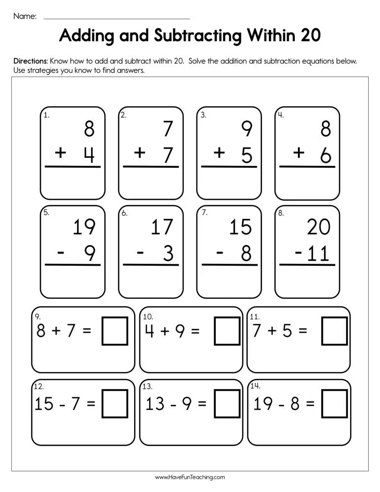 Adding and subtracting time worksheets Awesome