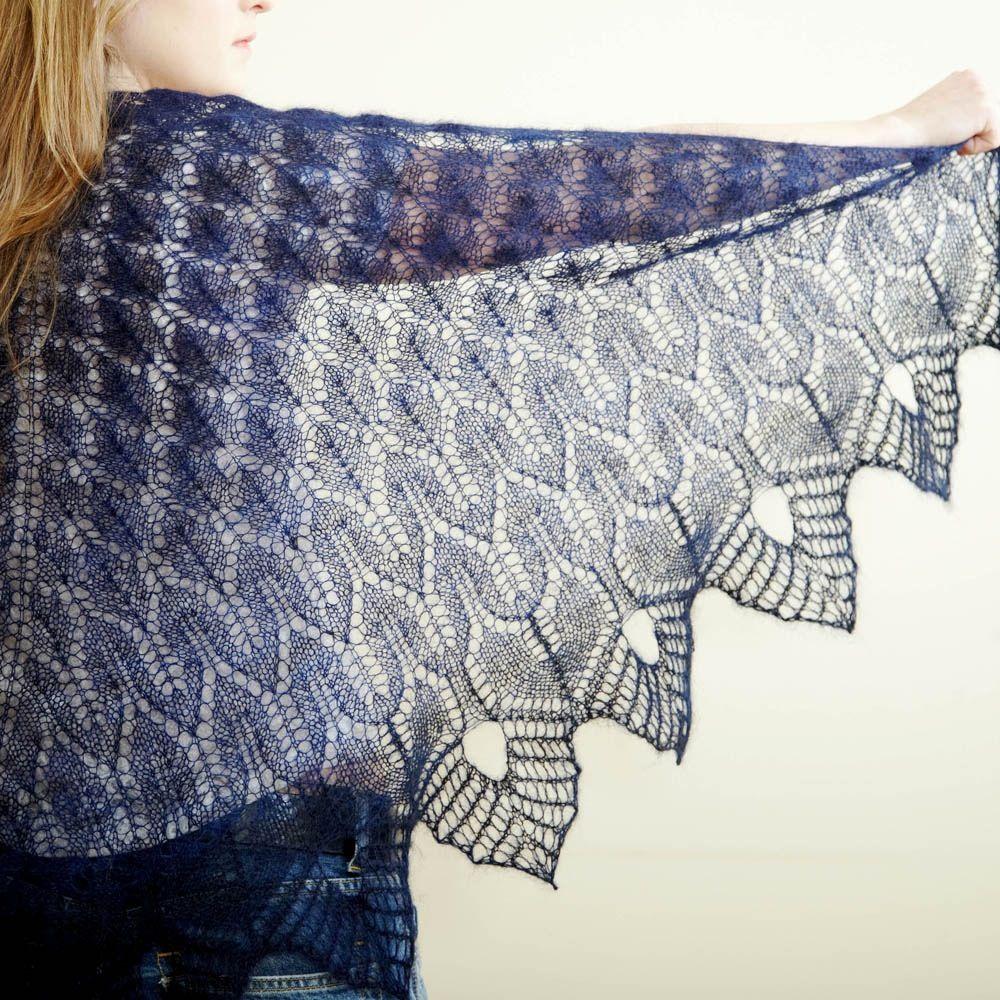 Winter Thaw | Hedgehog Fibres | Shawl Knitting Patterns | Pinterest ...