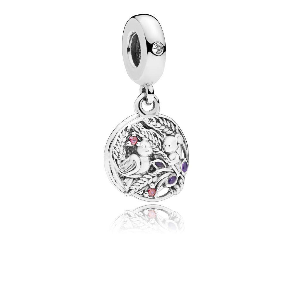 Irridescent White Glass Pearl CZ Crystal Bail European Dangle Pendant Bead Charm
