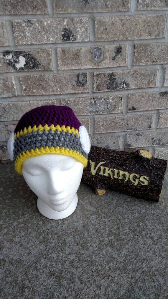 Minnesota Vikings Hat with Horns in 2018  e8def3e9d