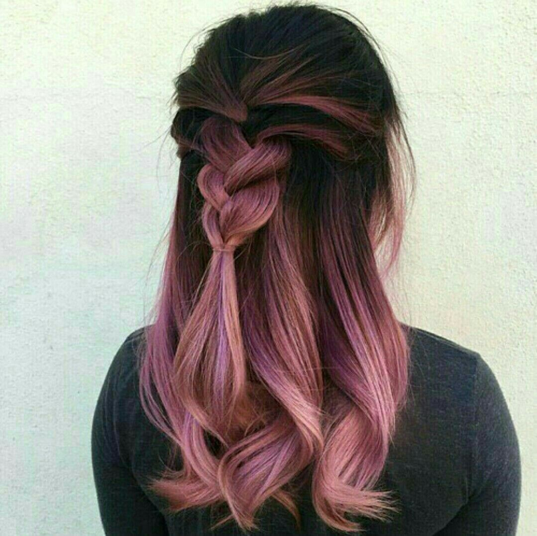 Love The Dark Pink Ombr Movie Hairstyles With Colors