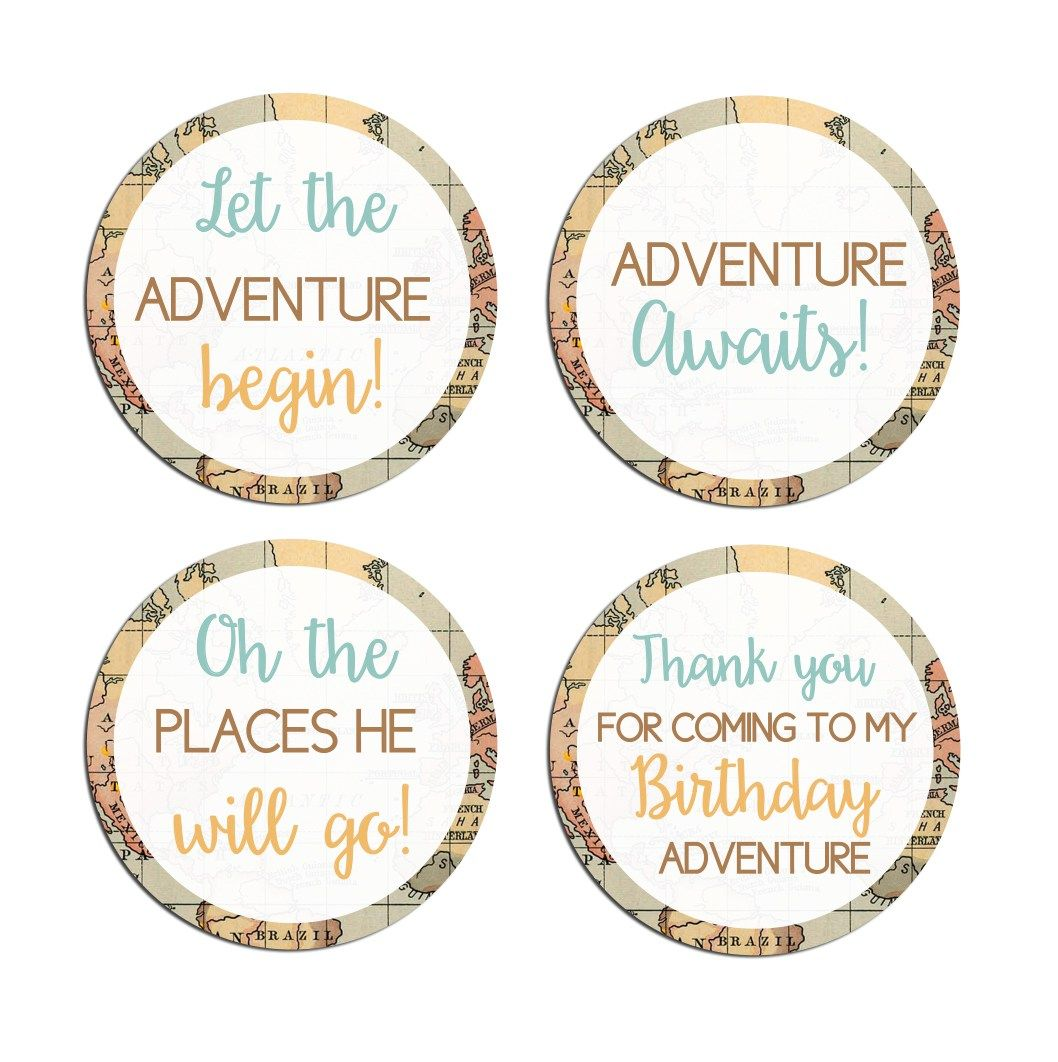Travel themed stickers. Click through to find matching games, favors ...