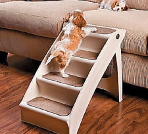 Dog Walk Up Steps Window Puppy Stairs Pet Bed Step House Training