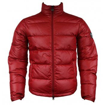1ab01976 Emporio Armani EA7 271358 2A340 Mens Down Quilted Jacket Red ...