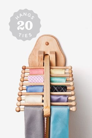 Wall Mounted Flip Down Tie Rack Neckties Are Cool Also Pinterest