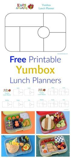 Free Printable Yumbox Clic And Panino Lunch Planner Templates To Print From Eats Amazing Uk Perfect For Planning School Lunches
