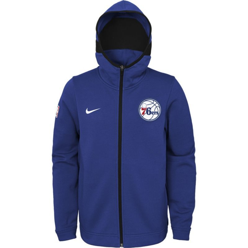 a903fe8d460 Nike Youth Philadelphia 76ers On-Court Royal Dri-FIT Showtime Full-Zip  Hoodie