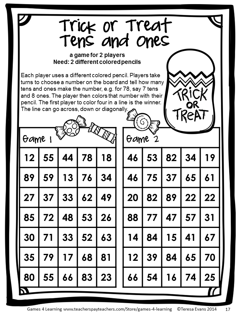 Halloween Activities: Halloween Math Games 1st Grade