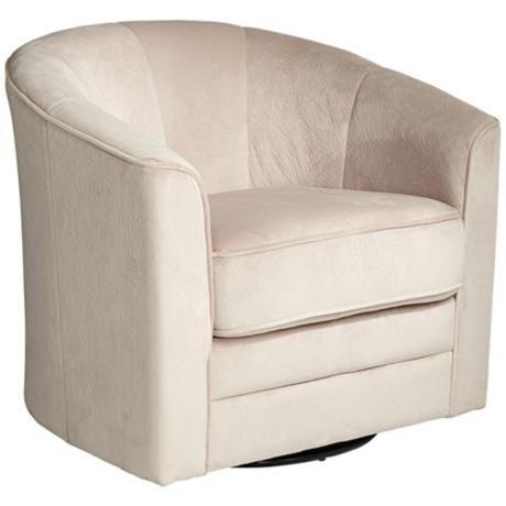 Keller Argos Muse Pearl Velvet Swivel Chair X5006