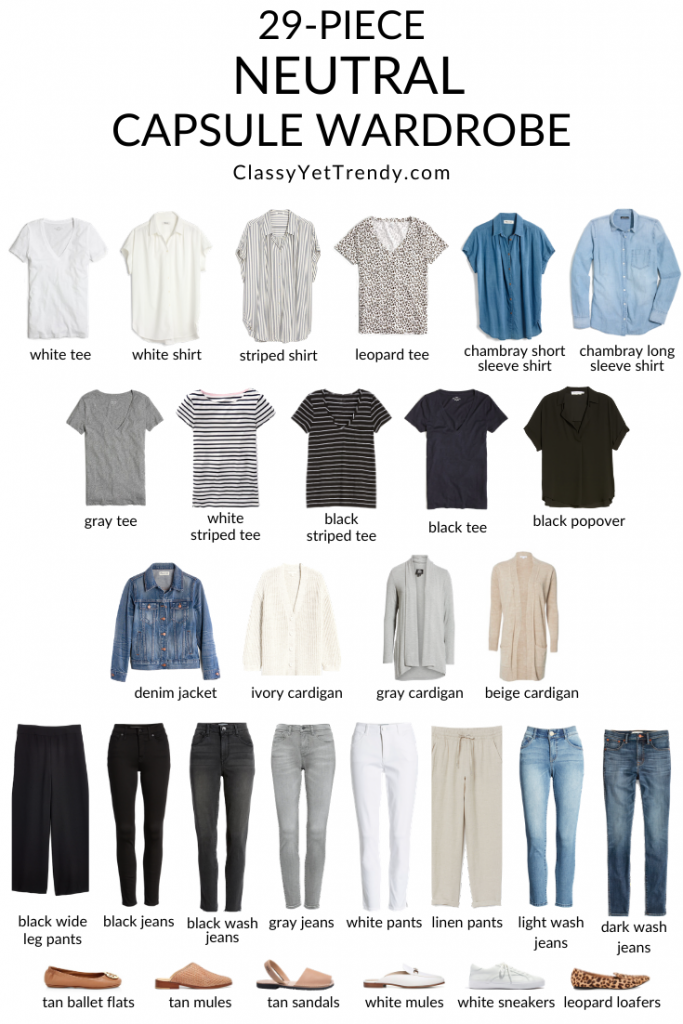 Photo of 29-Piece Neutral Capsule Wardrobe – Classy Yet Trendy
