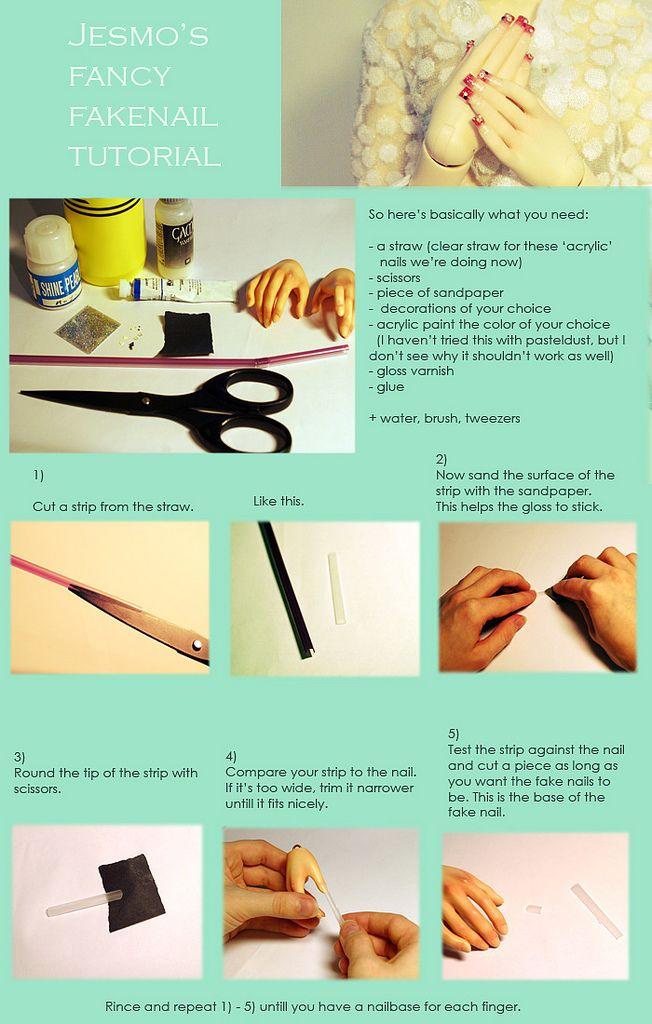 acrylic fake nails tutorial part 1   Tutorials and Dolls