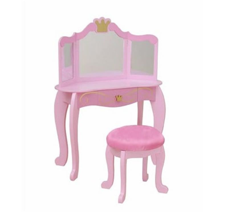 Fun And Stylish Little Girls Bedroom Furniture Design Princess Toddler Collection By KidKraft Vanity