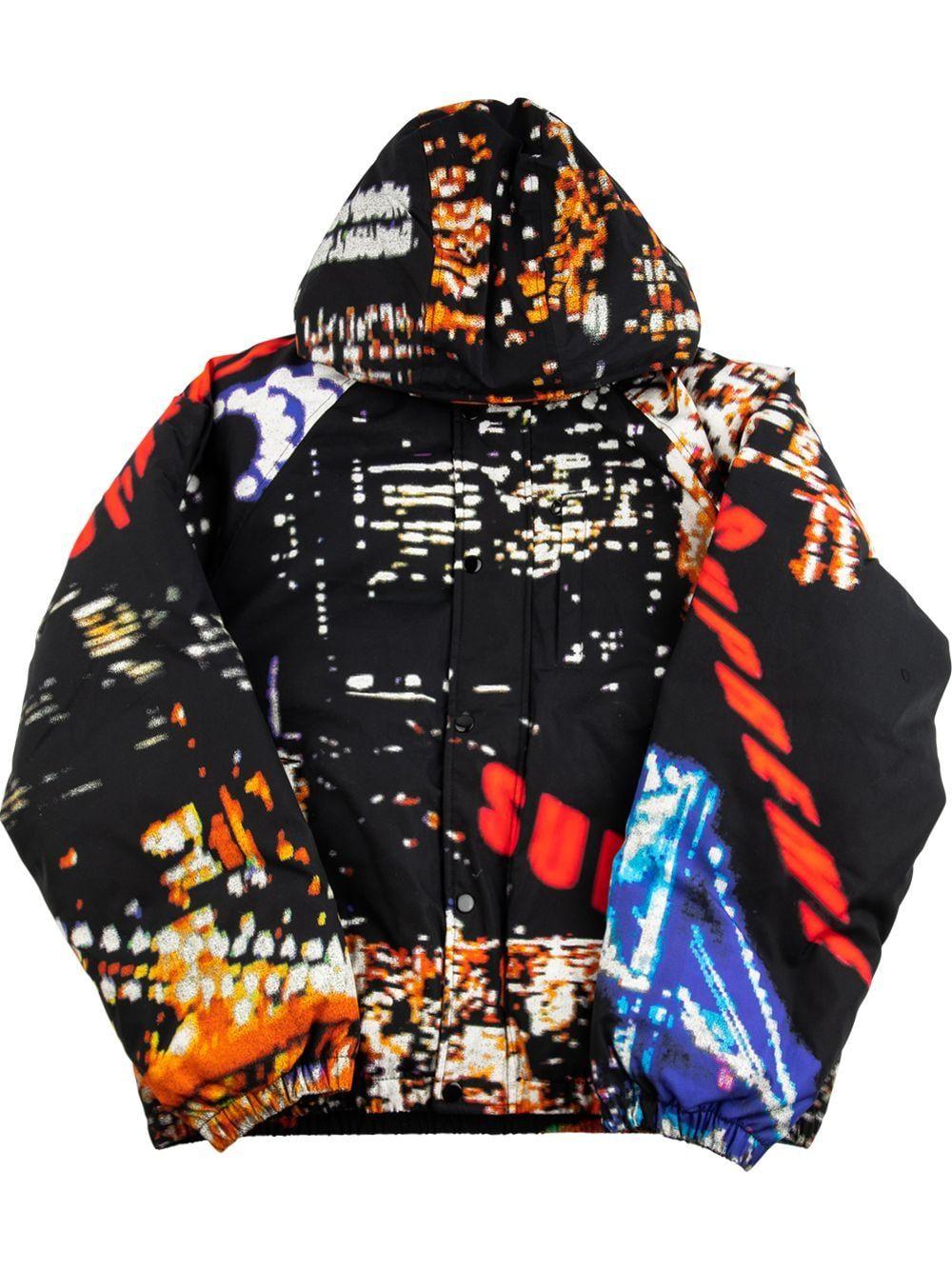 Supreme City Lights Puffer Jacket Farfetch In 2021 Puffer Jacket Black Jackets Puffer Jackets [ 1334 x 1000 Pixel ]