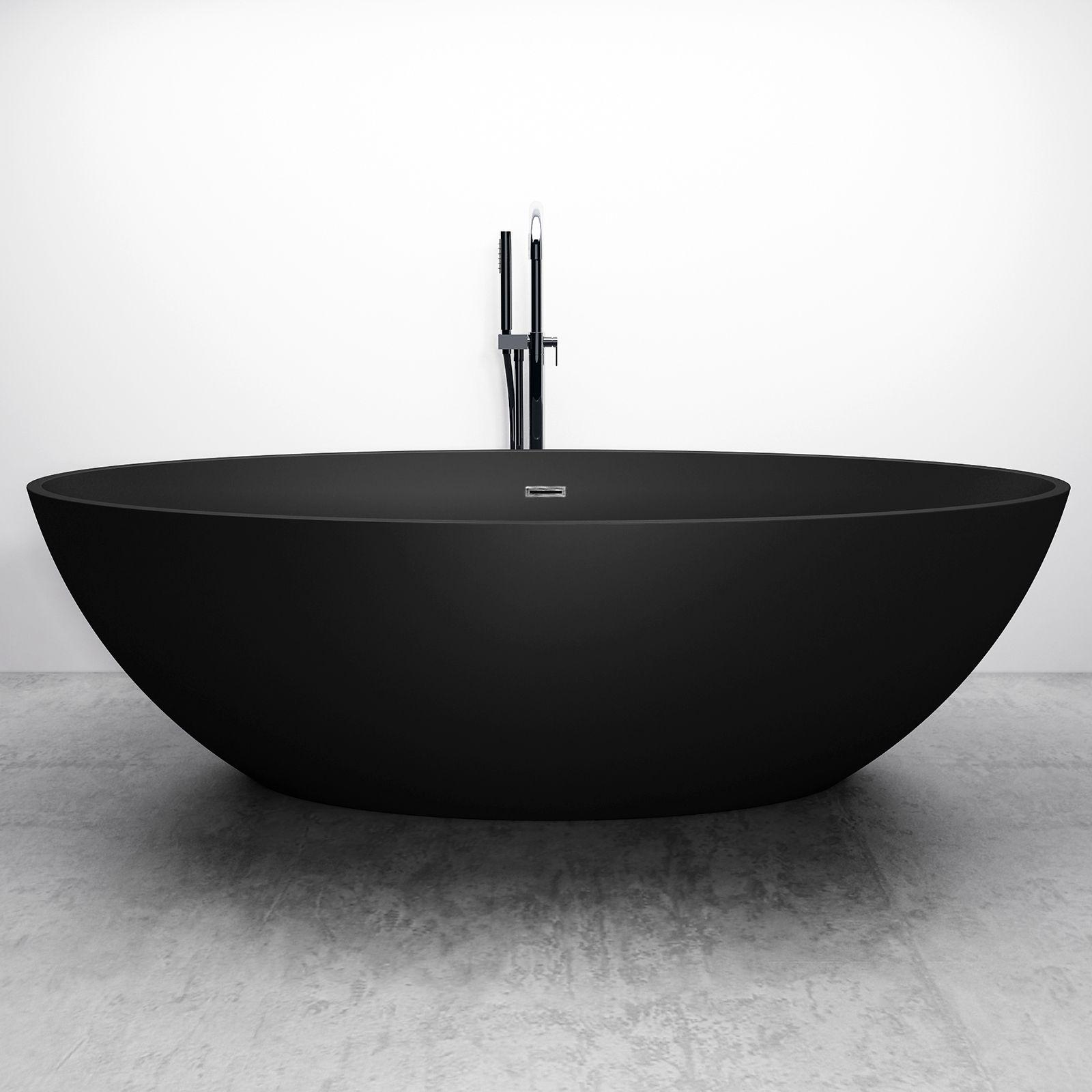 Bernstein Salle De Bain freestanding bathtub relax - black - 176x103cm bernstein