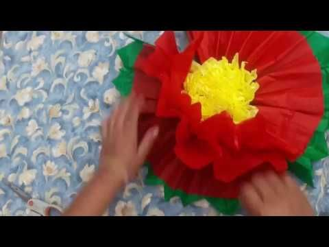 Como Hacer Una Flor Grande De Papel China Flores De Papel How To