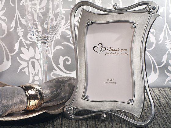 48 Stylish Silver Rhinestone *4x6* Photo Frame Wedding Favor in Gift ...