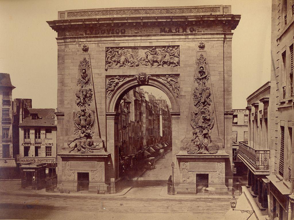 Porte Saint-Denis (vers 1860) Photographe inconnu.