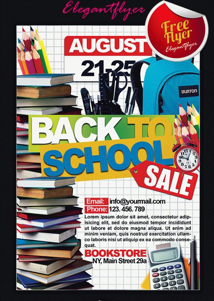 16 Free Back to School Flyer PSD Templates - DesignYep Cool - for sale template free