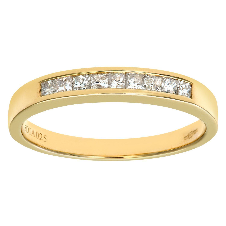 Naava 9ct Yellow Gold 0.25ct Diamond Pave Ring z3fVlPNC7