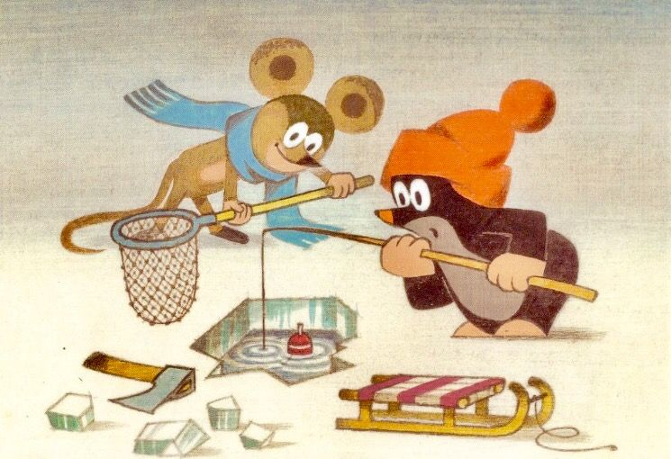 Krtek and Mouse fishing  🎣