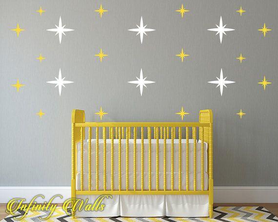 Starburst Multi Color Wall Decor Decals - Metallic Starburst Decal ...