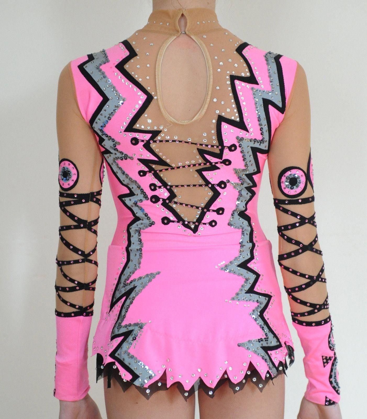 Custom Made Rhythmic Gymnastics Competition Leotard Used Pink  26e7feab1b8